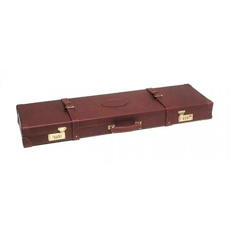 mallette 2 canons cuir fleur marron pour express. Black Bedroom Furniture Sets. Home Design Ideas